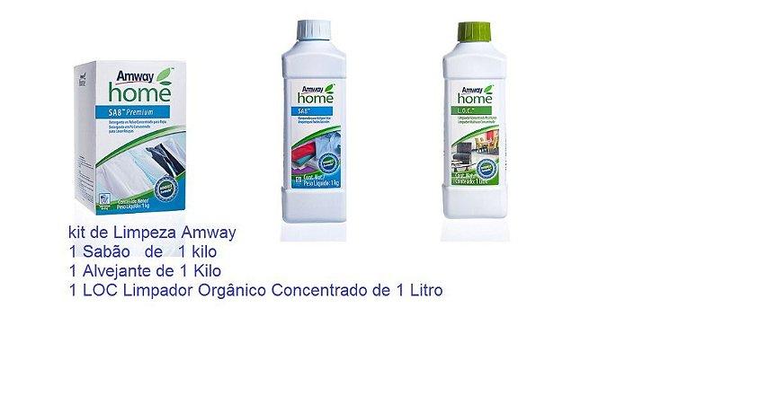 Kit Sal 1 Loc +  Sa8 1 Sabão E 1 Alvejante Amway Concentrado 42 Lavagem - Limpeza Casa e Roupas