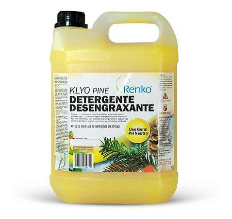 Detergente Desengraxante Gel Klyo Pine 5 Litros - Renko Para Lavagem de todas Superfícies