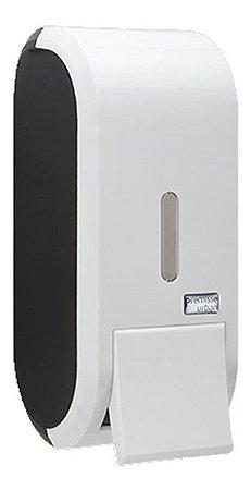 Porta Sabonete Black White Saboneteira Design Preto Premisse Urban com Refil 400ml