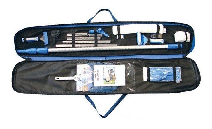 Kit Completo Para Limpeza De Vidros Com Bolsa - Master Vidro