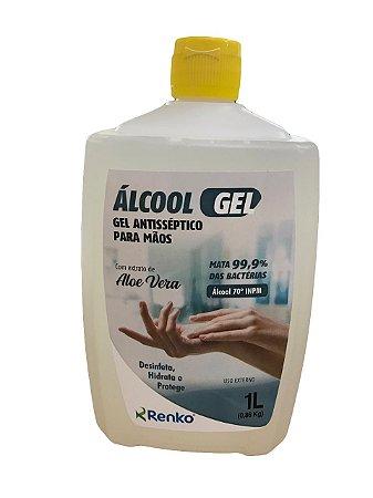 Álcool em Gel Antisséptico com Aloé e Vera Mãos 1l Renko
