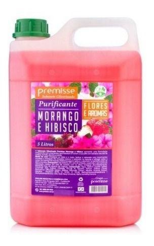 Sabonete Premisse 5 Litros Morango E Hibisco Hidrata Mãos