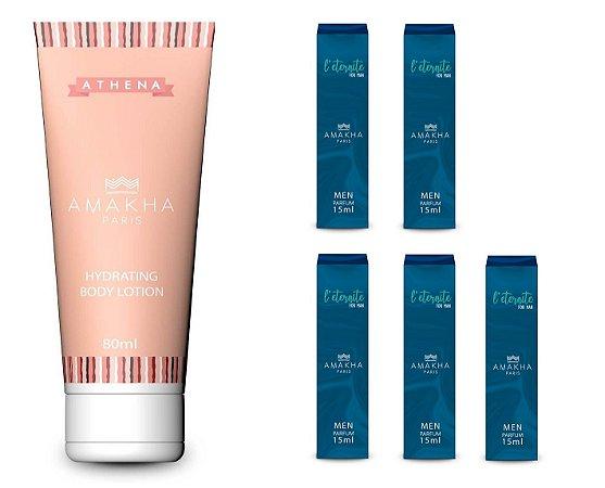 Hidratante Athena 80ml + 5 L'Eternite Perfume 15ml Amakha