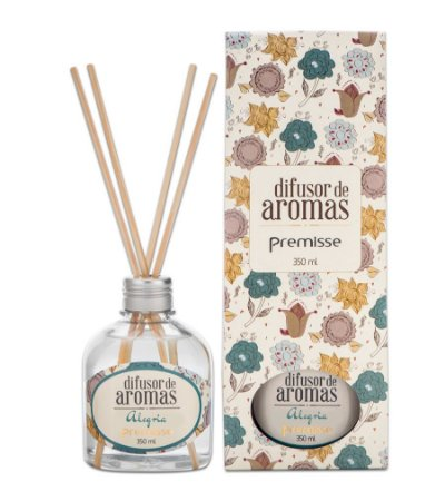 Difusor De Aroma Alegria Premisse Perfuma Ambiente 350ml