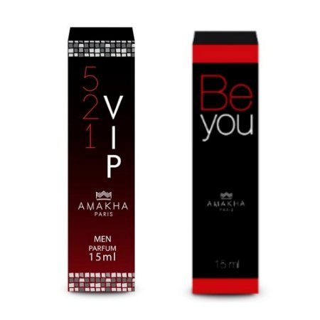 Perfume Masculino Vip Men + Feminino Be You Amakha Paris +++