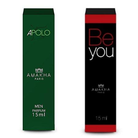 Perfume Masculino Apolo + Feminino Be You Amakha Paris +++++