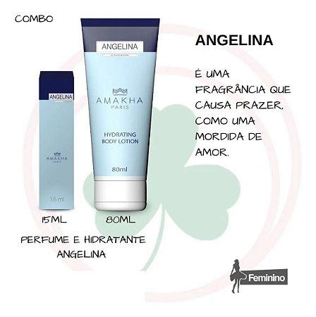 Kit Perfume 15ml e Hidratante 80ml Angelina Amakha Paris