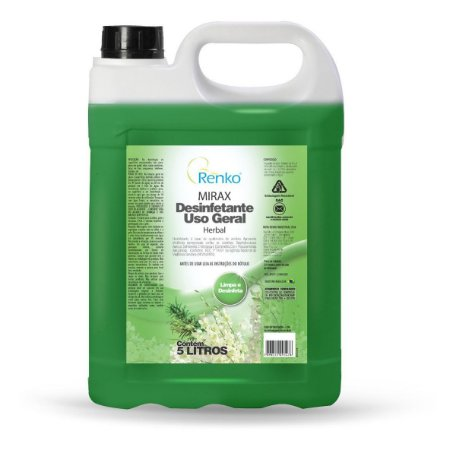 Desinfetante Uso Geral Herbal Mirax Pronto Uso 5l Lt Renko