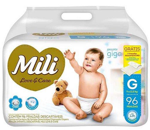 Fralda Mili Love & Care Giga - 6 Camadas Neném Bebe Absorve