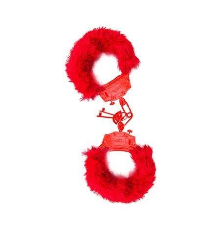 Algema de Metal com Pelúcia - Vermelha Hot Flowers