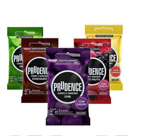 Preservativo Prudence Cores e Sabores 3 unidades
