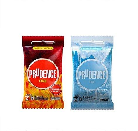 Preservativo Prudence Sensações Ice e Fire 3 unidades