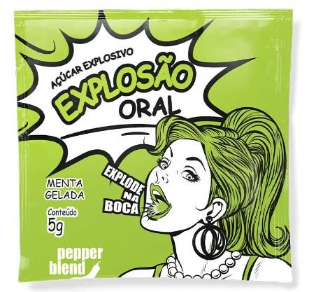 Explosao oral açucar que explode na boca-sabor menta gelada 5gr