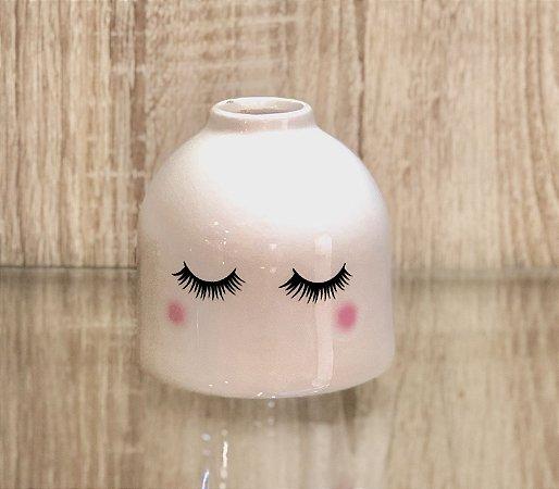 vaso de porcelana olhinhos