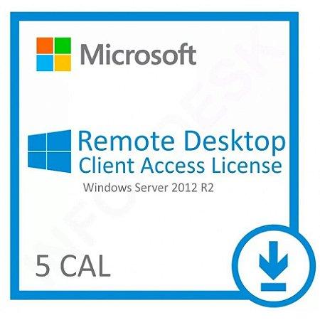 Pacote De 5 Cals De Usuário ou Dispositivos Para Windows Server 2012 / R2