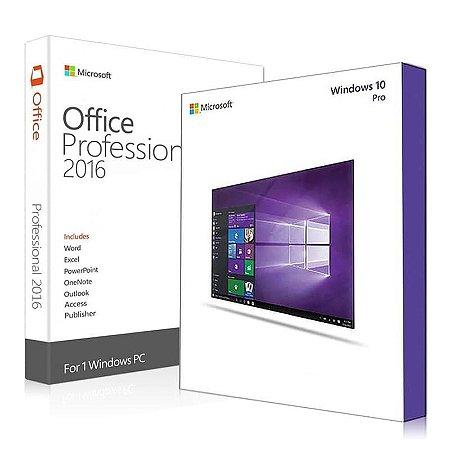Microsoft Windows 10 Pro + Office 2016 Pro – 32 / 64 Bits – ESD