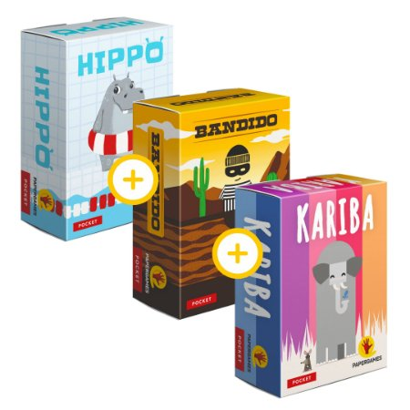 3-Pack Papergames - Hippo + Bandido + Kariba