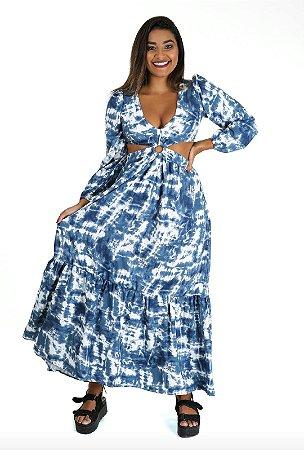 Vestido Slim Poderosa Azul