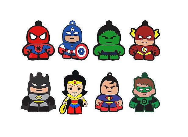 Chaveiros em Acrílico - Super Heróis