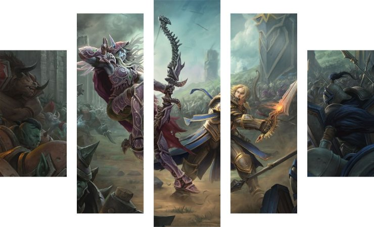 Mosaico Decorativo - World of Warcraft - Sylvanas vs Anduin