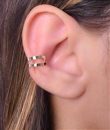 Piercing Estilo Duplo Liso. Replica de Ouro