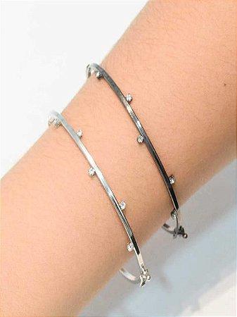 Bracelete com zirconias