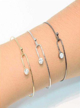 Bracelete com zirconia na ponta