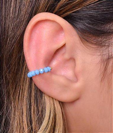 Piercing fake no cristal azul escuro