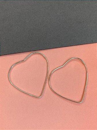 Argola de coração 4 cm