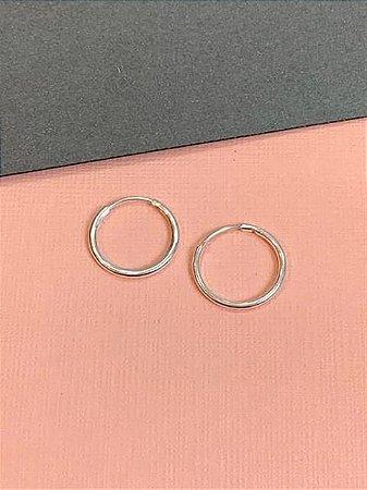 Argolinha em prata lisa 1,5 cm