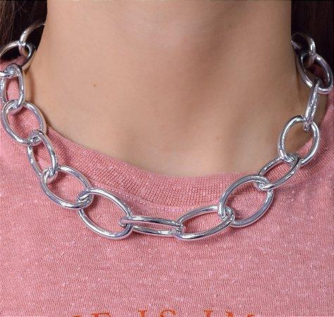 Colar Correntaria elos G Blue Chain