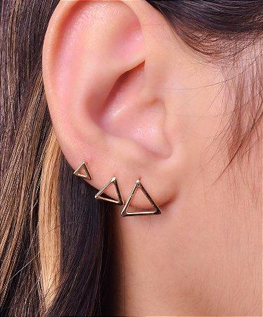 Trio de Triângulos Vazados