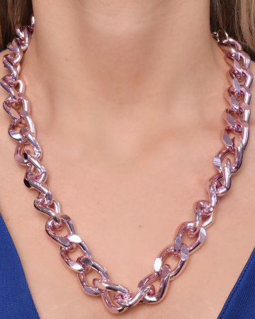 Colar com corrente groumet G. Pink chain