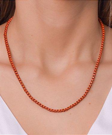 Corrente estilo veneziana resinada laranja G