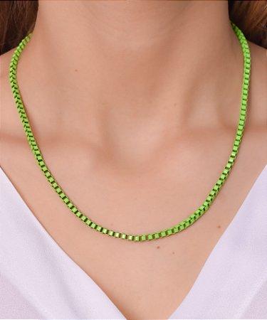 Corrente estilo veneziana resinada verde lima