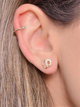Piercing simples com uma zirconia na ponta tamanho P