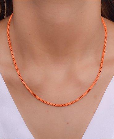 Corrente estilo veneziana P resinada na cor laranja neon