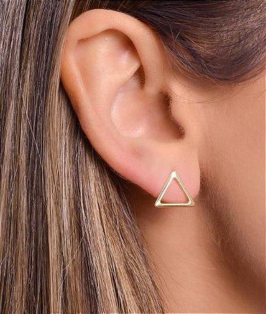 Brinco De Triângulo Vazado Tam G