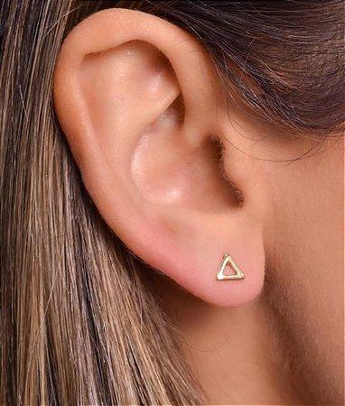 Brinco De Triângulo Vazado Tam P