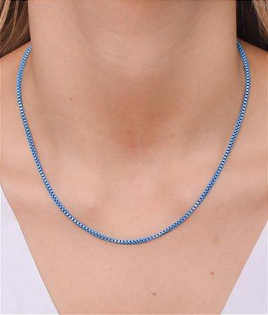 Corrente estilo veneziana P na cor azul celeste