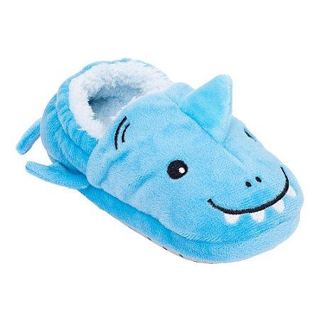 Pantufa Play Infantil Azul Tubarão - Pimpolho
