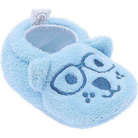 Pantufa Baby Tamanho Único Azul Cachorro - Pimpolho