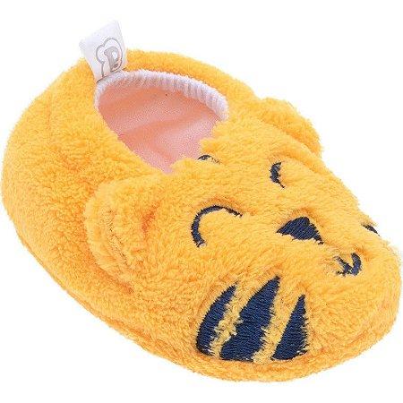 Pantufa Baby Tamanho Único Amarelo Tigre - Pimpolho