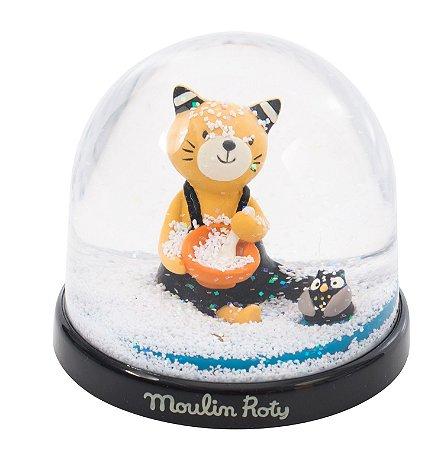 Globo de Neve Les moustaches Gatinho - Moulin Roty
