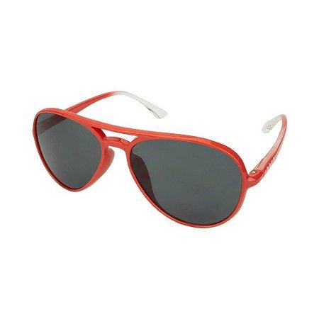 Óculos de Sol Infantil Tamanho Único UV 400 Vermelho Aviador- Pimpolho