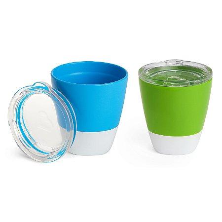 Kit Copos Com Tampa Verde e Azul - Munchkin
