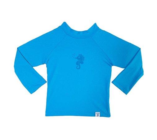 Camiseta de Banho Com FPS 50+ Manga Longa Azul - Ecoeplay