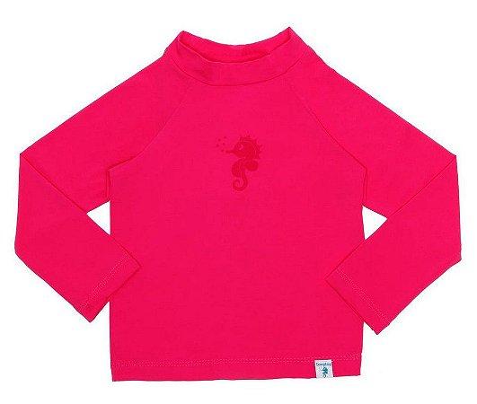 Camiseta de Banho Com FPS 50+ Manga Longa Pink - Ecoeplay