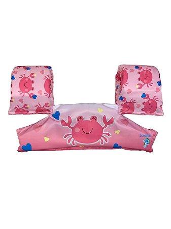 Bóia Colete Infantil Salva Vidas Siri Rosa - Ecoeplay