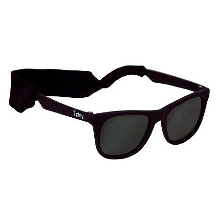 Óculos de Sol Flexível Com 100% Proteção Solar Preto - Iplay